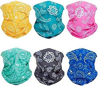 6pcs Magic Wide Wicking Headbands Outdoor Headwear Bandana Sports Scarf Tube UV Face Mask..