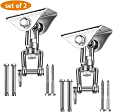 Awroutdoor Heavy Duty Swing Hangers Suspension Hooks 1000LB Capacity,360�Rotate Swing Hooks with 4 Screw/ 4 Expansion Bolts for Concrete Wooden Set Porch Yoga Hammock Chair Sandbag Swing Sets Indoor