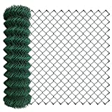 Amagabeli 1M x 25M Grillage Jardin Fil 50 x 50 mm Grillage Simple Torsion Vert Métallique Grillage Cloture Jardin en Acier et PVC RAL6005 HC03