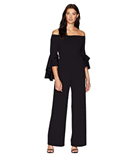 Statement Sleeve Stretch Crepe Jumpsuit