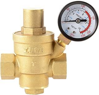 XCSOURCE Water Pressure Regulator Brass Lead-free Adjustable 1/2