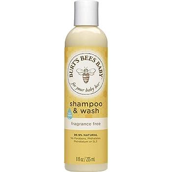 Burt's Bees Baby Shampoo & Wash, Fragrance Free & Tear Free Baby Soap - 8 Ounce Bottle