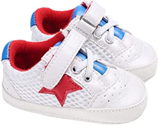 Voberry Voberry Unisex-Baby S Boy'S Lace Up Mesh Light Weight Sneakers Running Shoes