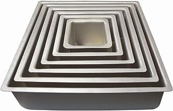 "PME 16x4"" SQUARE Anodised Aluminium Wedding Cake Baking Pan Tin Bakeware"