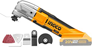 INGCO Lithium-Ion Compact Cordless 20V DIY Oscillating Multi-Tool with 8 PCS Accessory Kit (Body only) CMLI2001