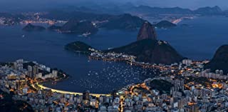 Posterazzi PPI161767L Aerial view of city from Christ the Redeemer Corcovado Rio de Janeiro Brazil Poster Print 36 x 12