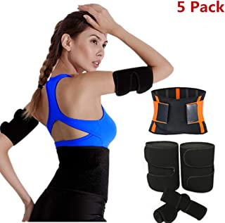 Fitness Belt Sport Girdle Belt & Arm & Thigh Trimmers Lose Fat & Reduce Cellulite High Compression Slimmers for Men & Women Increases Heat & Sweat Production to The Bicep Area