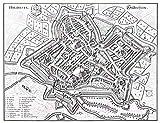 Doppelganger33 LTD Map Antique Merian 1653 Hildesheim City