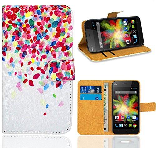 FoneExpert® Wiko Bloom Handy Tasche, Wallet Hülle Flip Cover Hüllen Etui Ledertasche Lederhülle Premium Schutzhülle für Wiko Bloom