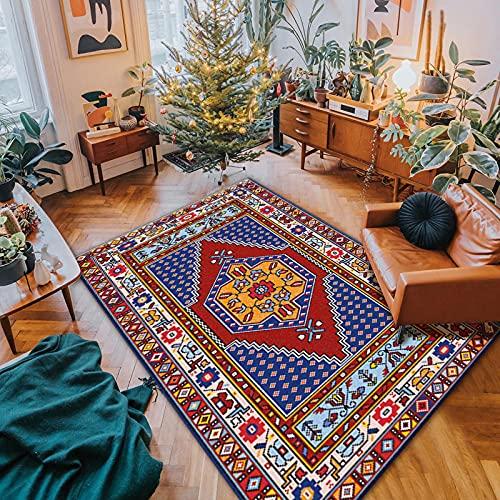 Alfombra Antideslizante Boho Bathom, alfombras deintrada de Vintage, Alfombra de Cocina Lavable, Alfombra Brillante y Colorida, emparejadain Cualquier Espacio-5_160x230cm