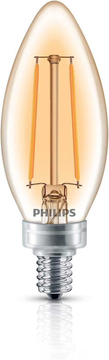 Philips Led Classic Glass Amber Ba11 Dimmable Light Bulb 2700 Kelvin 4 Watt 40 Watt Equivalent E12 Base Soft White 18 Pack Tools Home Improvement Amazon Canada