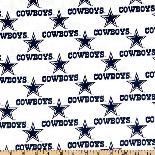 Fabric Traditions NFL Cotton Broadcloth Dallas Cowboys White Fabric by The  Yard f090b429f