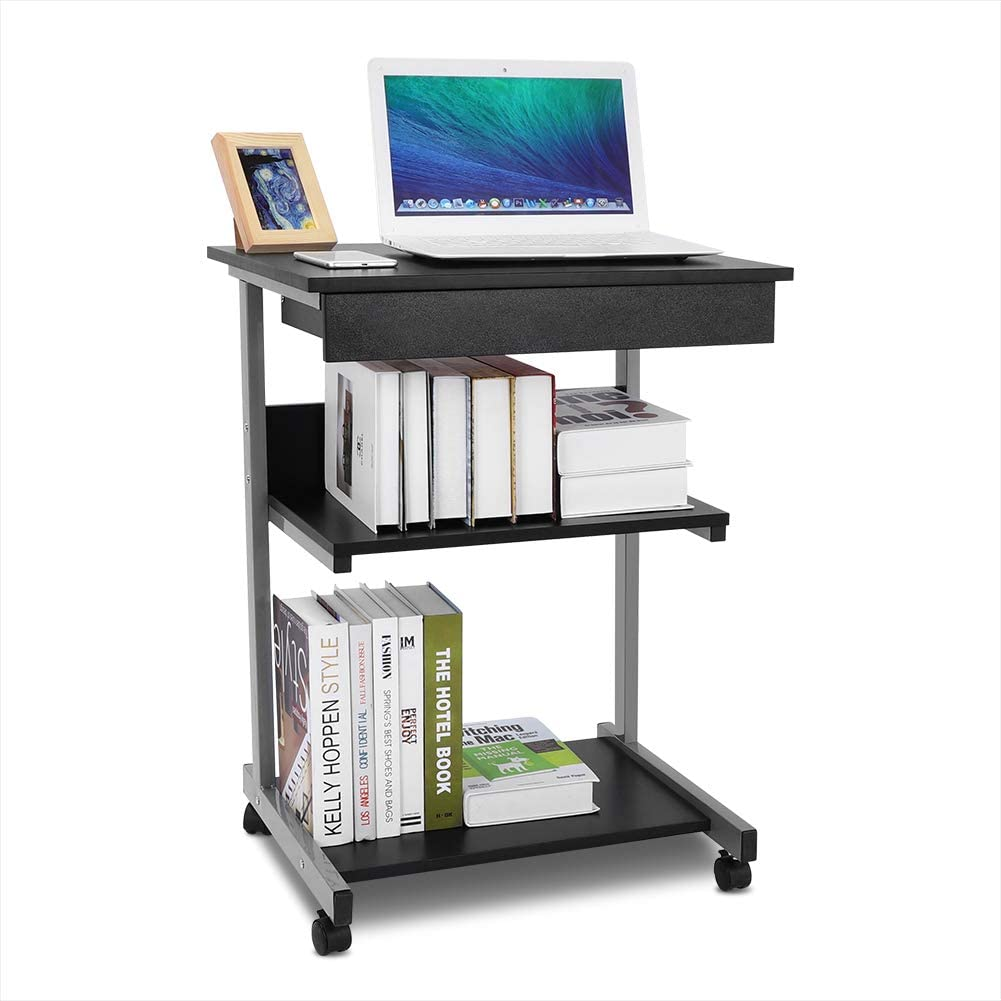 Rolling Purchase Stand Up Desk Wholesale Mobile Whee Laptop Computer with