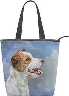 alaza Tote Canvas Schultertasche Jack Russell Terrier Dog-Handtasche