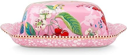 Preisvergleich für Butterdose aus Porzellan Hummingbird in pink von PIP STUDIO 51.018.066
