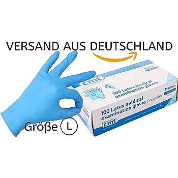 Exceart 100Pcs Industrielle Nitrilhandschuhe Einwegpr/üfung Gummihandschuhe Medizinische Isolierung Schnittfeste Handschuhe Gr/ö/ße M Blau