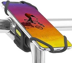 Bone 自転車 スマホ ホルダー 携帯ホルダー ステム用 超軽量 全シリコン製 脱着簡単 脱落防止 4インチから最大6.5インチまでのスマホに対応 iPhone 11 Pro Max XS XR X 8 7 6S Plus Xperia ZX...