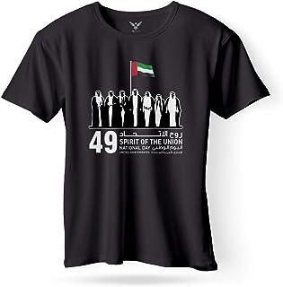 FMstyles UAE 49th National Day Black Tshirt (Free I Love UAE wristband)