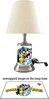 Looney Tunes Characters Lamp with Shade, Bugs Bunny, Tweety Bird, Daffy Duck, Tasmanian Devil