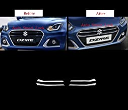 Auto_Smart_Look Car Front Grill Chrome Cover (4 Pcs) for Maruti Swift Dzire 2020