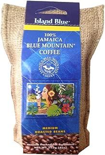 Island Blue 100% Jamaica Blue Mountain Whole Beans Coffee (4oz)