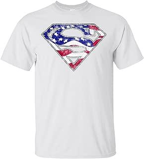Swag Attack Gear Superman American Flag T-Shirt
