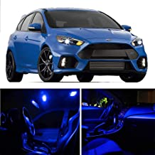 SCITOO LED Interior Lights 6 pcs Blue Package Kit Accessories Replacement Fits for 2012-2014 Ford Focus