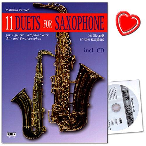 11 Duets For Saxophone von Matthias Petzold - von Jazz bis Calypso, von Blues bis zum französischen Musette-Walzer -Notenheft mit CD und Notenklammer - 610379-9783899220957