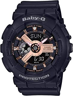 Casio BA110RG-1A Baby-G Womens Watch Black 43.4mm Resin
