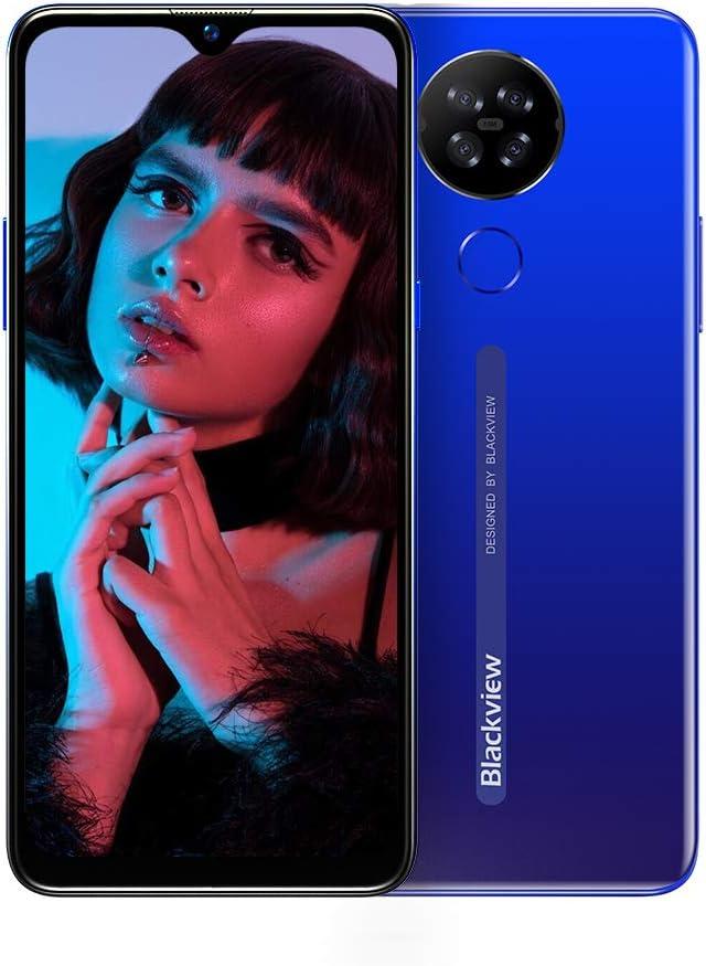 Moviles Libres 4G, Blackview A80 Smartphone Libre Android 10 GO con Cámara Trasera Cuádruple 13MP, 6.21