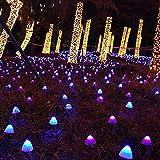 Yokawe 1 Juego De Luz De Camino, Luz Solar Fácil De Instalar, Lámpara Solar LED De Seta Artificial Impermeable, Estaca Portátil para Jardín Multicolor Los 3.8m