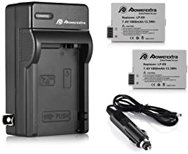 LP-E8 Powerextra 2 Pack Replacement Battery 1800mAh and Charger Compatible for Canon LP-E8 and Canon Rebel T3i T2i T4i T5i...