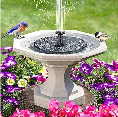 Solar, bomba de fuente 1w 150L de alta eficiencia de jardín con energía solar flotante bomba de agua con 4 cabezas de pulverización for diferentes flujos de agua for la decoración del jardín,