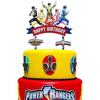Super Amazon Com Cake Toppers Power Rangers Birthday Set Featuring Birthday Cards Printable Opercafe Filternl