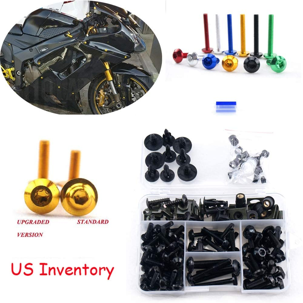 Complete Alloy Cheap mail order shopping Motorcycle Body Fairing For Screws Kit 40% OFF Cheap Sale Bolt
