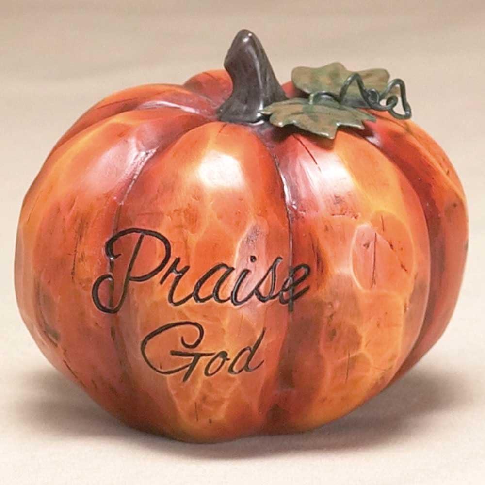 Dicksons Praise God Pumpkin Max 50% OFF Orange 2 Harvest Tab Stone In a popularity Resin x