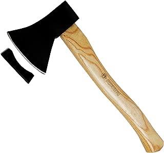KSEIBI 274105 Wood Chopping Axe 14 inch Splitting Small Axe Hatchet Wooden Handle Camping Hand Tools