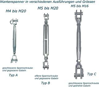 Pauli Edelstahldesign Roestvrij staal AISI316 spanslot roestvrij staal V4A - M4-M20 vork kabelspanner spanner spanner