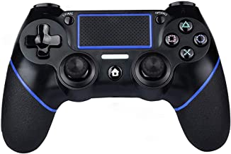 PS4 Controller Wireless Gamepad for PS4/PS4 Slim/PS4 pro/PC with USB Charge Cable with Dual Vibration, Clickable Touchpad, Audio Function, Light Bar and Anti-Slip