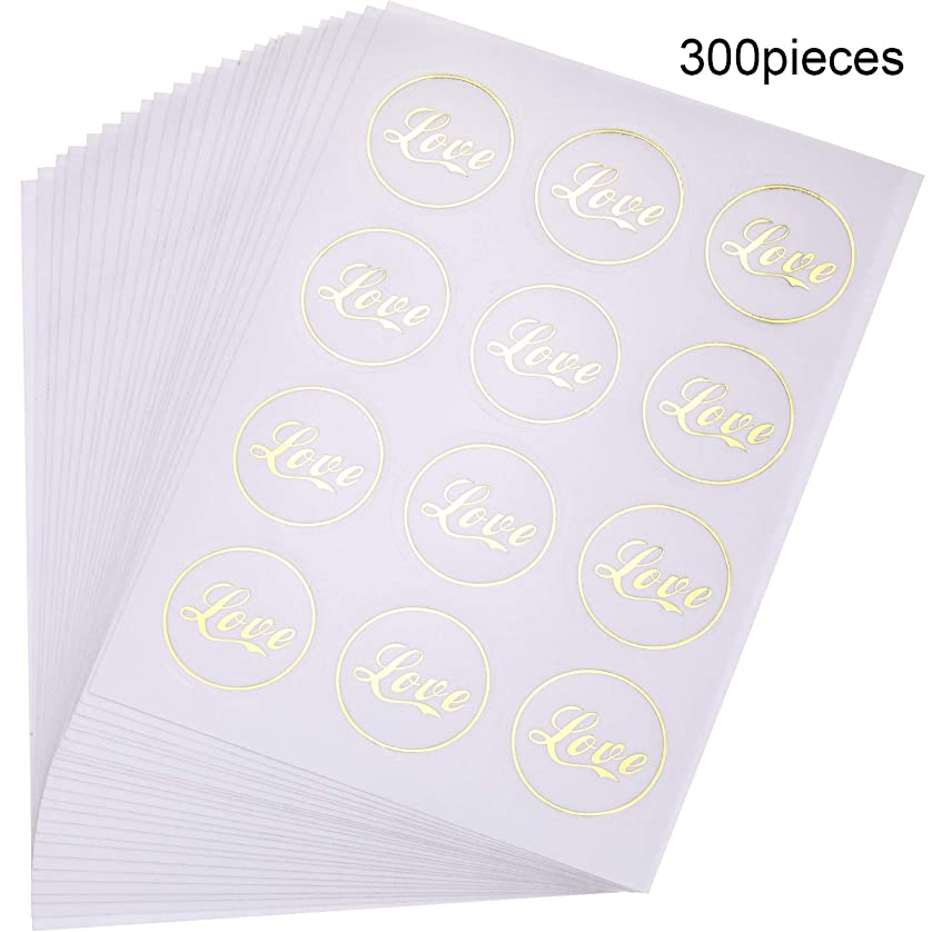 300 Pieces Love Sticker Wedding Stickers Love Adhesive Label Stickers Envelope Seal Stickers for Scrapbooking Wedding Bridal Shower Invitation Anniversary Party Favors uppndwyng