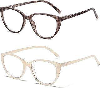 2-Pack SOJOS Reading Glasses For Women,Trendy Cat Eye Womens Blue Light Blocking Computer Readers 1.5 2.0 SR5700
