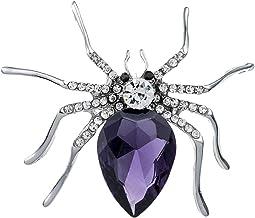 oAtm0eBcl Spider Brooch Pin, Women Fashion Glitter Spider Shape Rhinestone Inlaid Brooch Pin, Jacket Dress Scarf Decor Gif...