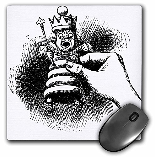 3D Rose'Chess Piece Alice in Wonderland Vintage' Matte Finish Mouse Pad - 8 x 8' - mp_155846_1