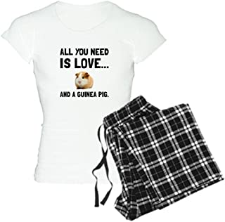 CafePress Love and A Guinea Pig Pajamas Women's PJs