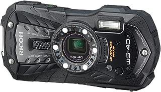RICOH Waterproof Digital Camera RICOH WG-40 Black Waterproof 14m Withstand Shock 1.6m Cold -10 Degrees RICOH WG-40 BK 04675 (International Model)