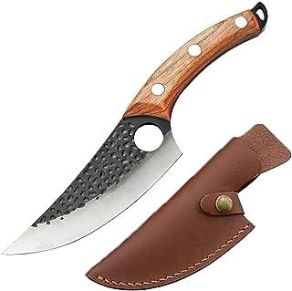 LY couteaux de chef Cuisine couteau à désosser, Viking Camping barbecue serbe pleine Tang désossage couteau de boucher for...