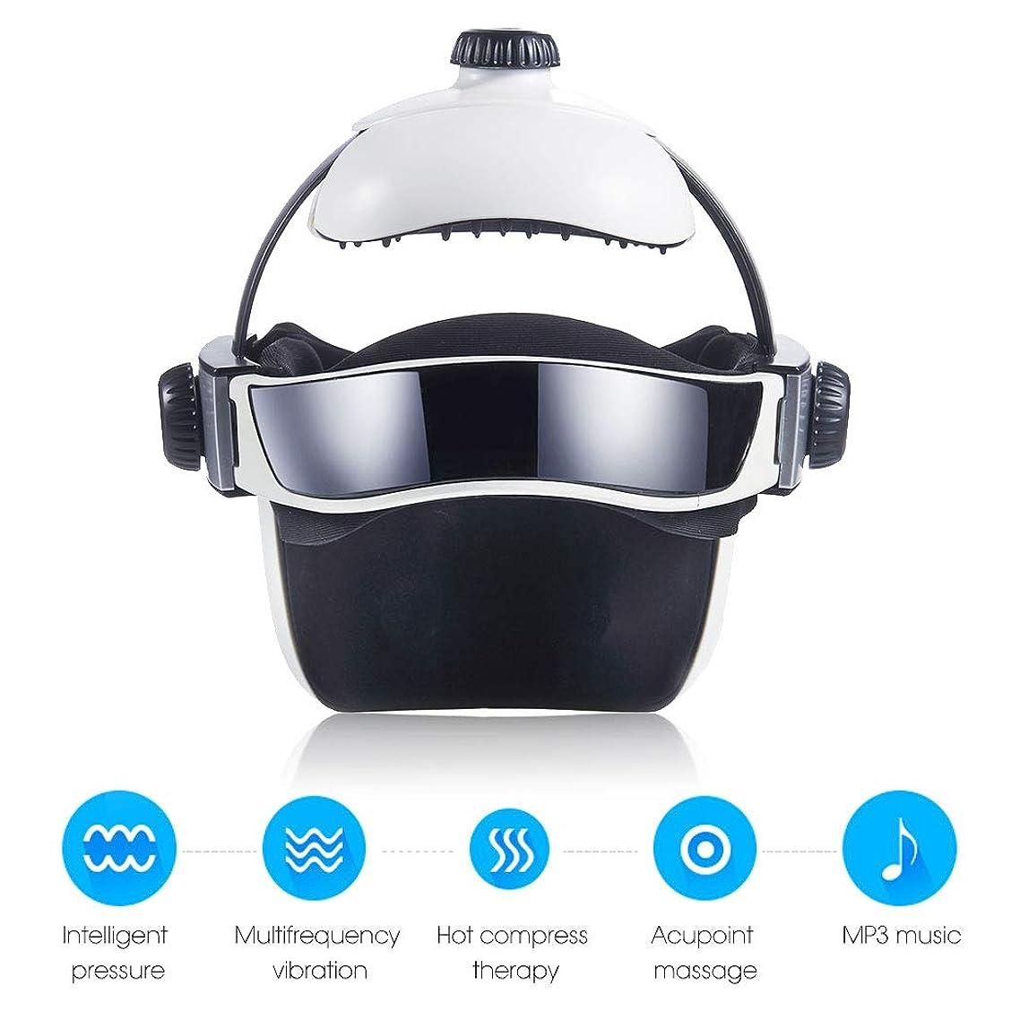 提唱する一過性摂氏熱空気圧縮振動フィンガープレスマッサージ、目、首マッサージ音楽なだめるリラックスヘルメットタイプの電動ヘッド
