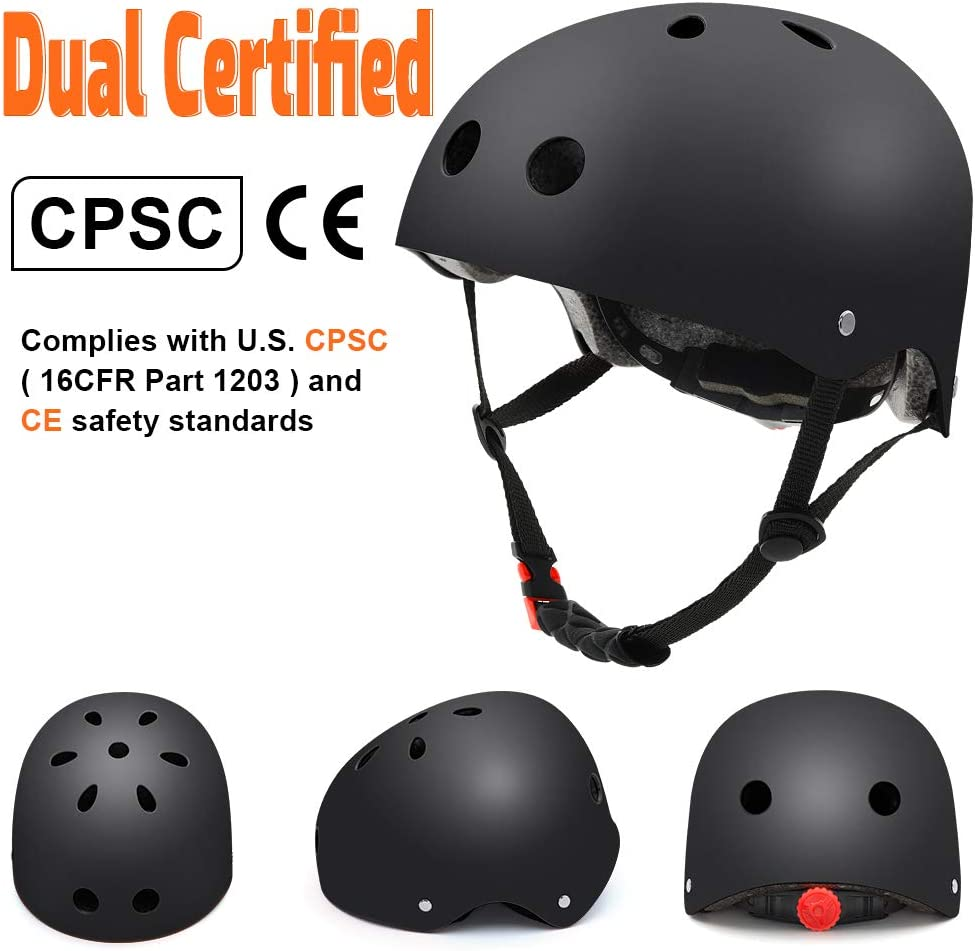 Roller Skate,Skiing Scooter Adjustable Straps CPSC Certified for Skateboard Skating Kids//Adult Bike Helmet with Removable Liner Skiing Cycling Skateboard Helmet