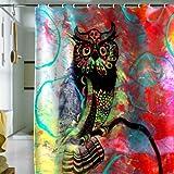 Deny Designs Sophia Buddenhagen Duschvorhang mit Vögeln, Farbe Eule, Standard