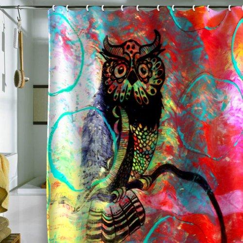 Deny Designs Sophia Buddenhagen Duschvorhang, Eulenmotiv, 175,3 x 182,9 cm